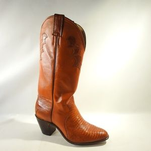 Justin Size 9 Tan Cowboy Boots Shoes For Women